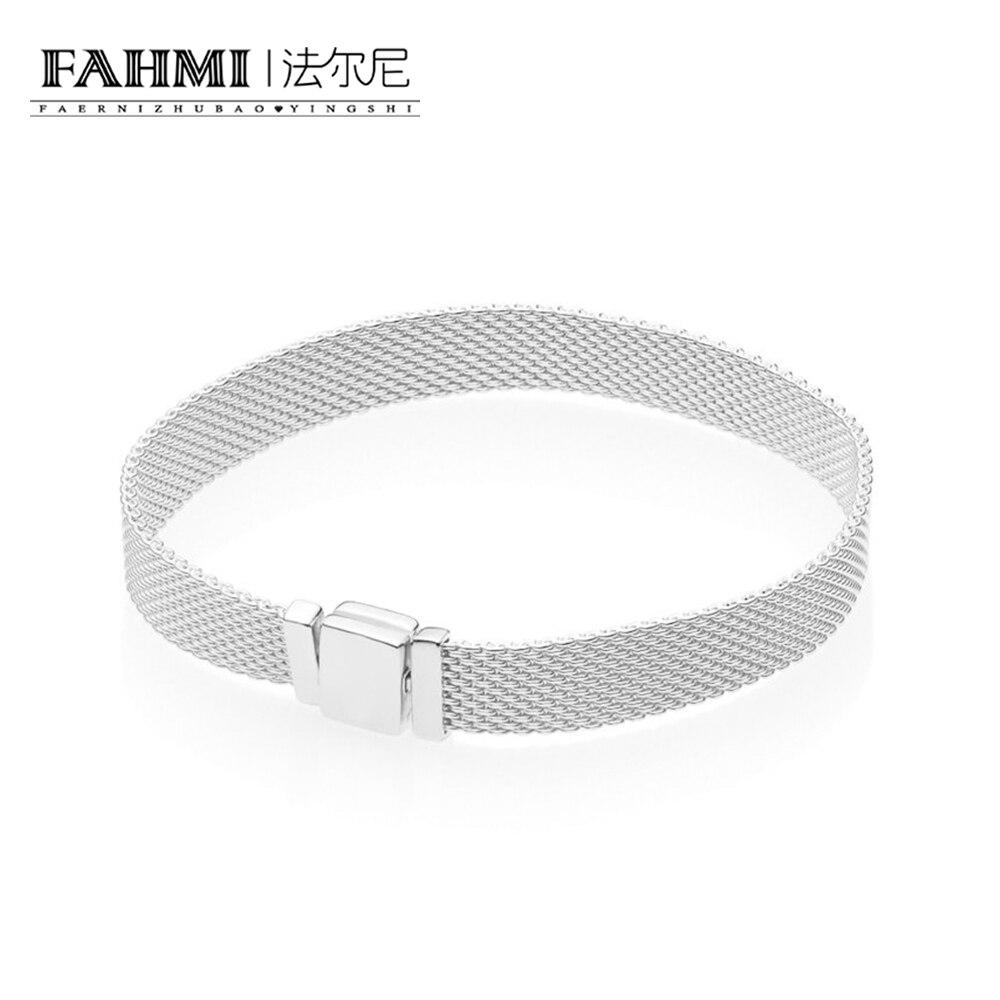 FAHMI 925 пробы 100% Серебряный Новый 597712 рефлексионы браслет оригинальный Шарм модные украшения Очаровательная для женщин подарок