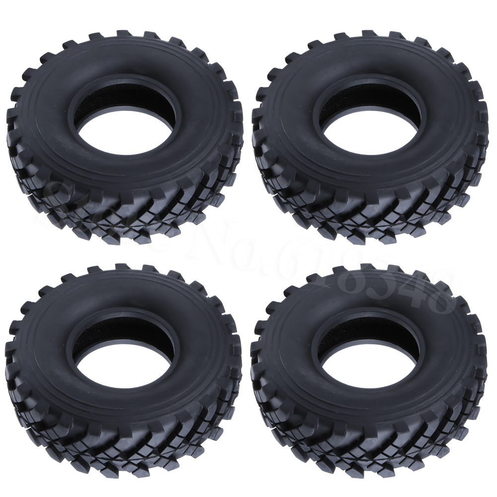 4pcs font b RC b font 1 10 Rock Crawler Tires With Foam Inserts OD 130mm