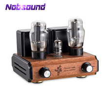Nobsound mini amplificador 12ax7 + 6l6, tubo de vácuo, hifi, stereo, classe a, amplificador com ponta única