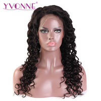 YVONNE 360 Lace Frontal Wig Pre Plucked With Baby Hair 180% Density Italian Curly Virgin Human Hair Wigs For Black Women