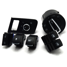 New Chrome free shipping Mirror switch window for VW Volkswagen Touran 2003-2015 Caddy 5K3 959 857 1TD959565A 5K3959857