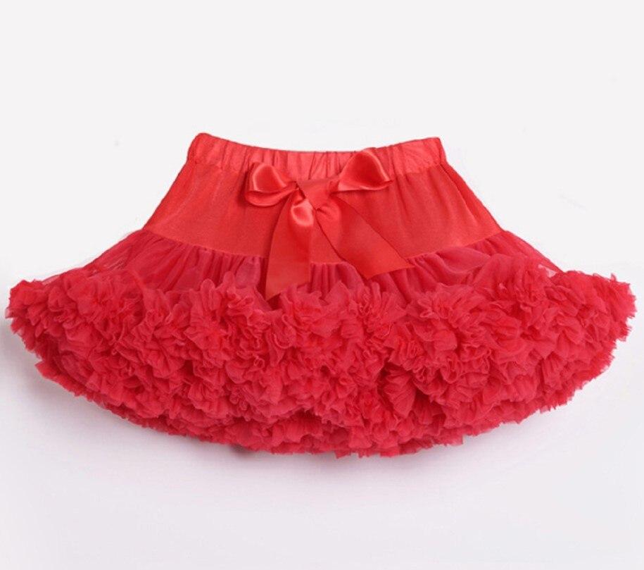 Детские Нижние юбки для девочек юбка-пачка Нижняя юбка для девочек девочки пачки, миниатюрные юбки шифоновая юбка воздушная юбка подростковая одежда для девочек - Цвет: Красный