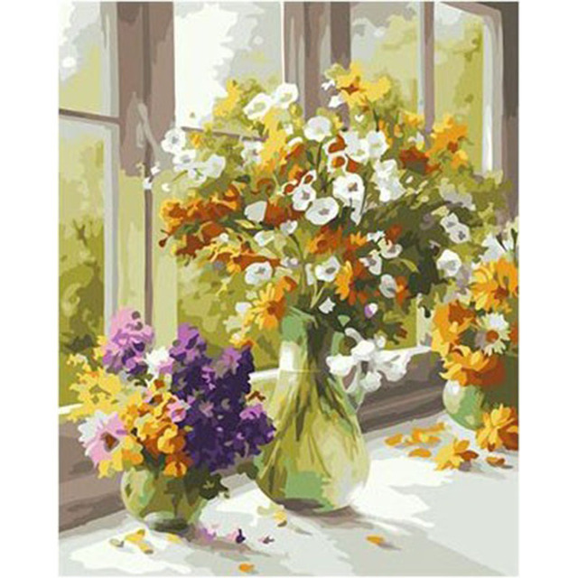 Artsailing Romantic Elegant Daisy Flowers Pictures By Numbers ...