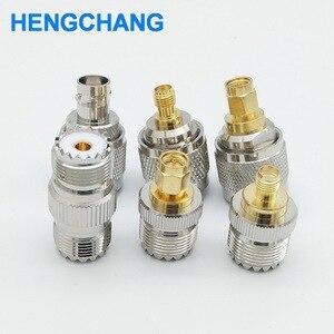 Image 1 - SL16 M type UHF to SMA PL259 to BNC SO239 to SMA RF connectors adapter 6pcs/lot
