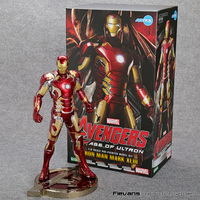 Iron Man Mark XLIII 43 1/6 Scale Pre painted Model Kit with LED Light PVC Action Figure Collectible Model Toy