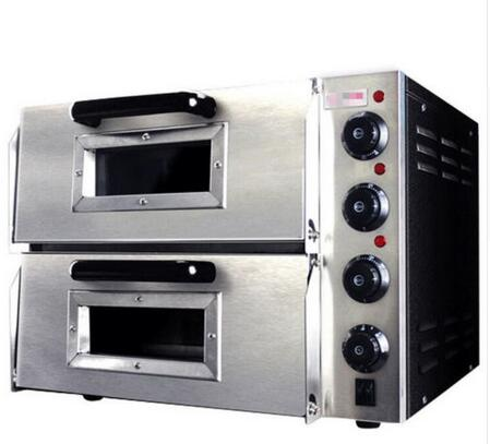 220V 16 Double Electric Pizza Oven Commercial Ceramic Stone