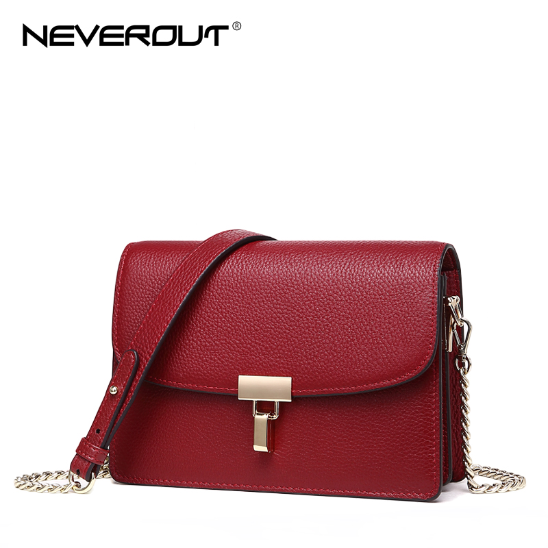 NeverOut 3 Color Real Leather Crossbody High Quality Solid Small Bag Women Shoulder Flap Bags Sac Brand Name Messenger Bags neverout new crossbody handbag women messenger bag cover small flap bags fashion shoulder bags simply style genuine leather bag