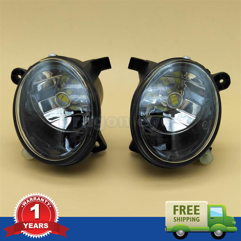 2pcs LED Light For Audi Q5 2009 2010 2011 2012 2013 2014 2015 New Front LED Bulb Fog Light Fog Lamp стоимость