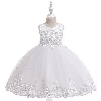 цена на Princess Flower Girl Dresses 2019 For Wedding  Lace Tulle Tutu Kids Girls Pageant Dresses Birthday Party Dresses