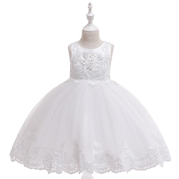 Princess Flower Girl Dresses 2021For Wedding  Lace Tulle Tutu Kids Girls Pageant Birthday Party