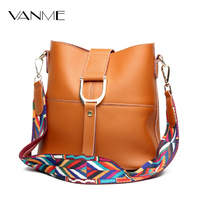 New Women Split Leather Bucket Bag Ladies Shoulder Bag Brand Popular Colorful Strip Handbag Braided Lines