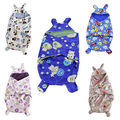 Newborn Baby Infant Fleece Hooded Swaddle Wrap Swaddling Blanket Warm Soft Sleeping Bag