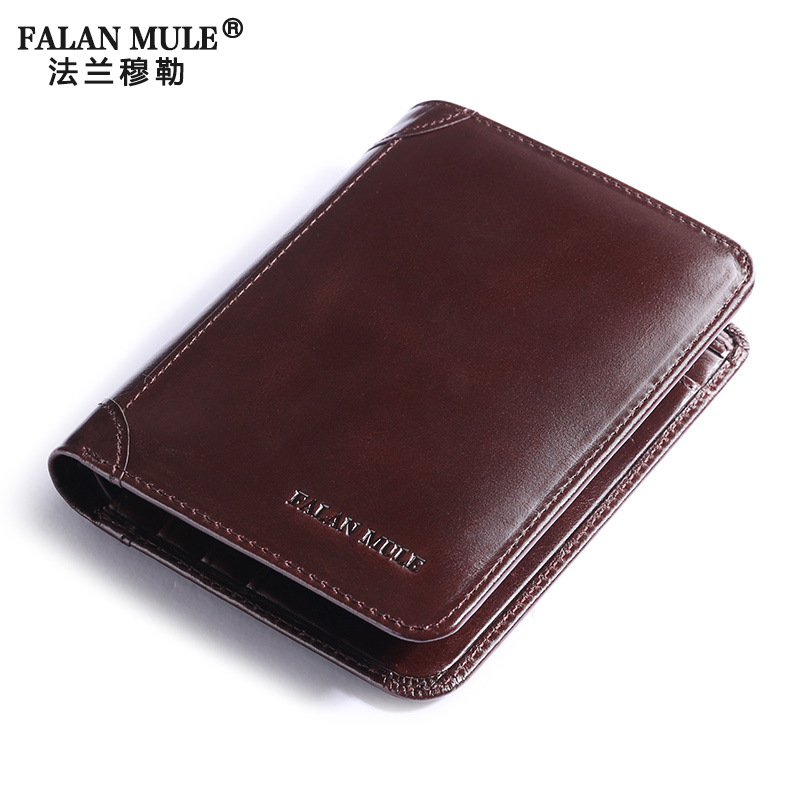FALAN MULE Genuine Leather Men Short Wallet Fashion Simple Male Purse Card Holder Mens Wallets Soft First Layer Of Cowhide росмэн 978 5 353 06872 3