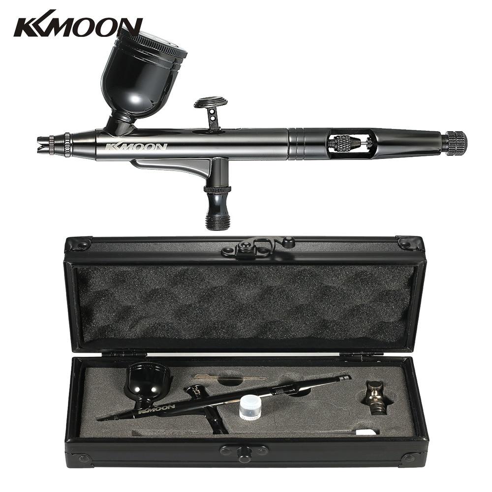 KKmoon HT 192 Multi Purpose Gravity Feed Dual Action Airbrush Kit Set 0 3mm 8cc Spray