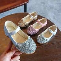 Crianças da criança infantil do bebê meninas de cristal couro único sapatos festa princesa sapatos sapato menina de couro de festa6.641gg