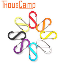 Outdoor tools Aluminum alloy S-type climbing buckle outdoor backpack portable 5pcs