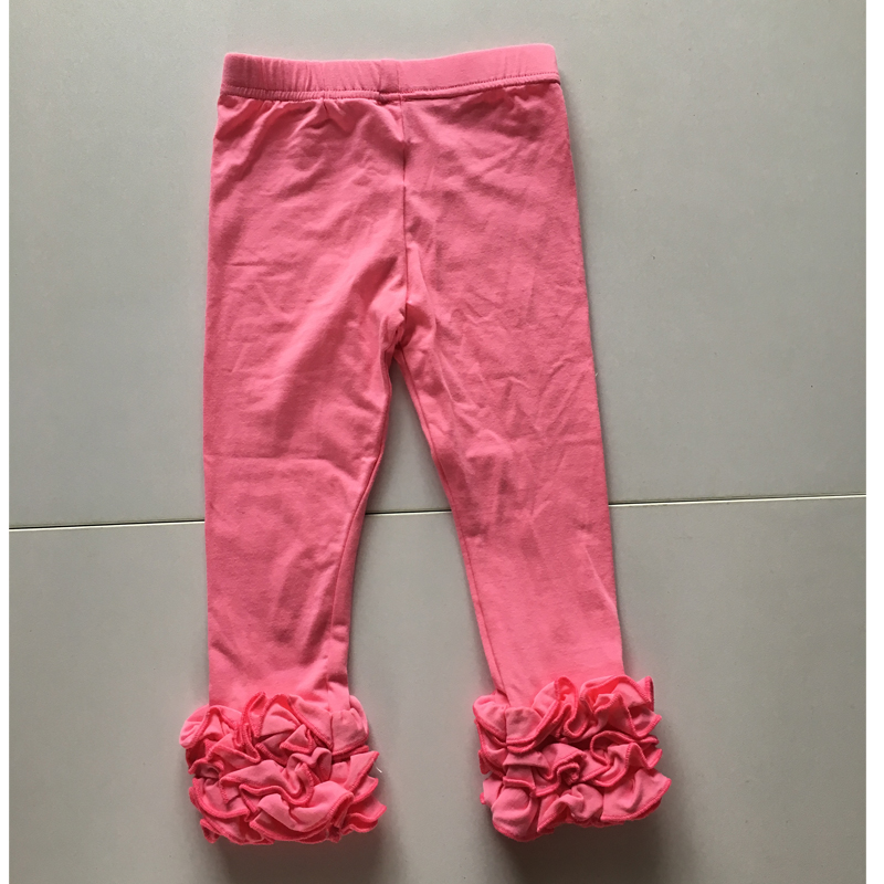 hot pink icing ruffle red leggings for girls rose ruffle pants leggings wholesale sexy pink leggings dress for girl kids