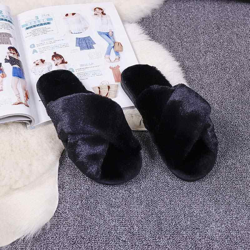 df09d32a374b ... Shoes woman 2018 new fashion slipper women flip Flop zapatos mujer  female Girls winter spring warm ...