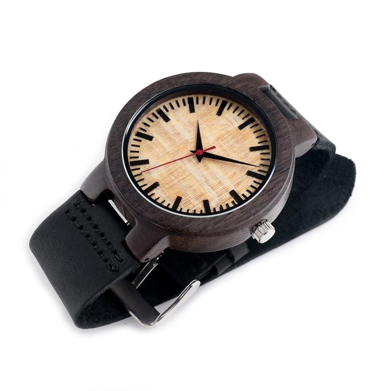 BOBO BIRD V-C23 남성 석영 손목 시계 수제 나무 시계 - 남성 시계 - 사진 4