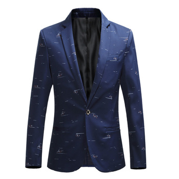 Fashion Casual Leisure Suit Jacket Floral Printed Men Blazer Slim Fit Designs Stage Costumes For Singers Large Size M-7XL
