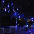 Conectable 30 CM lluvia de Meteoros Lluvia Tube 8 unids Azul/Blanco/RGB Meteor Tubos LED de Navidad Luz de La Boda partido Luz de la Secuencia Al Aire Libre