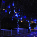 Connectable 30CM Meteor Shower Rain Tube 8pcs Blue/White/RGB Meteor Tubes LED Christmas Light Wedding Party String Light Outdoor