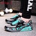 Venta caliente Nuevo 2016 Planos de La Manera de los hombres Entrenadores zapatos Respirables Del Deporte Unisex Zapatos Ocasionales Al Aire Libre Para Caminar los hombres Pisos Zapatillas Mujer
