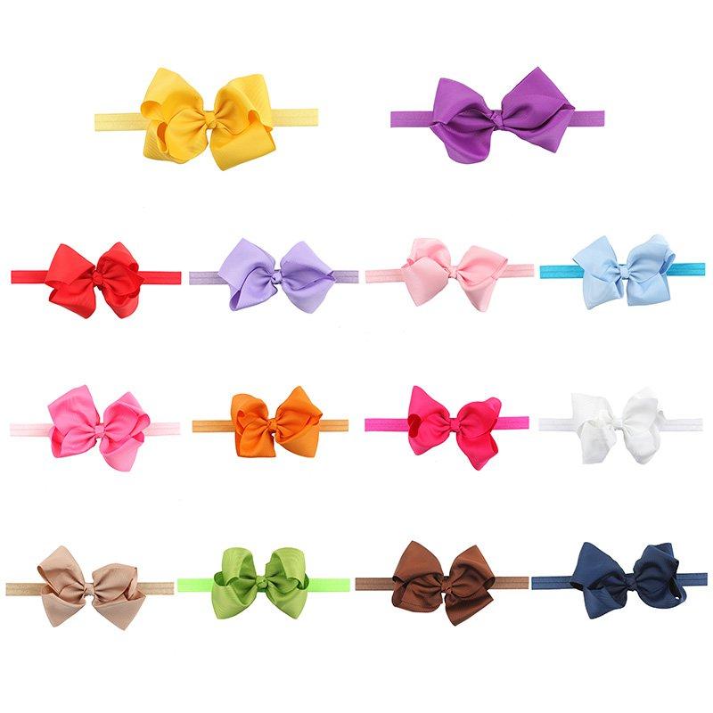 Baby Girls Headband Toddler Infant Chiffon Bowknot Headbands Hair Bows Hair Band Accessories