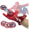 2 типы пвх 24 см бэтмен перчатки фигурку паук пусковая игрушки дети подходит человек паук косплей костюм оснащены розничной коробки