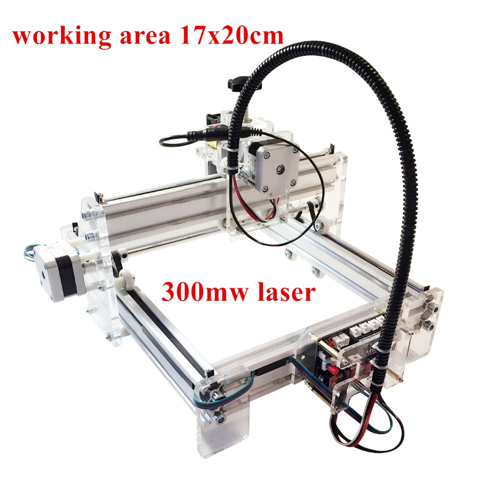 300mwLaser engraving toy grade DIY desktop micro laser engraving machine engraving machine 170*200mm marking измерительный прибор laser target 150 200 300 300 300