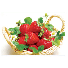 Diy 3d Strawberry Diamond Painting Fruit Round Picture Mosaic Cross Stitch Embroidery Kitchen Home Restaurant Decor