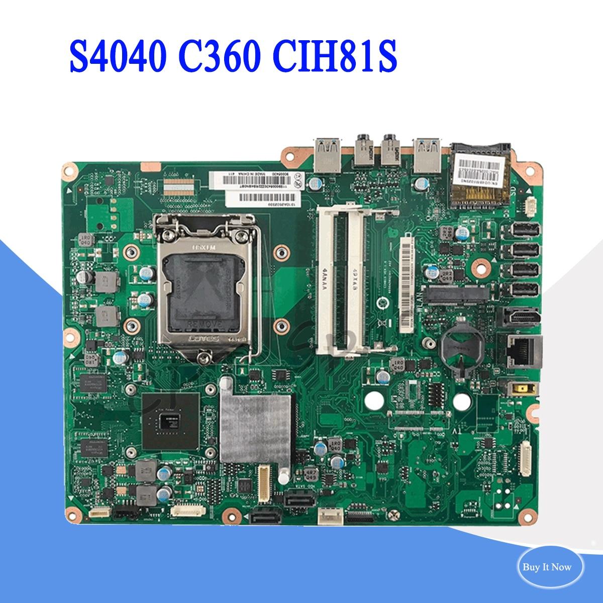C360  motherboard for HP S4040 C360 CIH81S V1.0 Desktop motherboard Fully testedC360  motherboard for HP S4040 C360 CIH81S V1.0 Desktop motherboard Fully tested