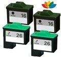 4 Multi-Pack Compatível 16 26 Conjunto Do Cartucho De Tinta Para Impressora Lexmark X1190 X1195 X1270 Impressora X2230