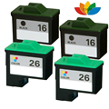 4 Multi-Pack Compatible 16 26 Ink Cartridge Set For Lexmark X1190 X1195 X1270 X2230 Printer
