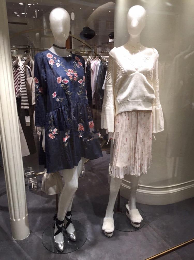 Été De 2 Nouvelle 1 Jupes Soie Floral Jupe Femme Printemps Haute 3 Midi Mode Tulle 2017 Mousseline Plissée Taille 4IxHpqXwg
