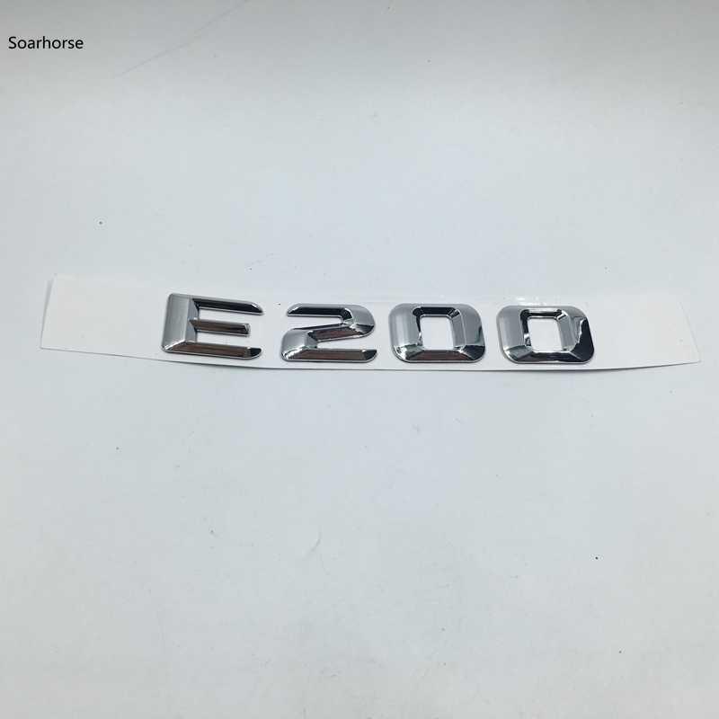 Soarhorse Mercedes Benz Için W124 W211 W212 W213 E Sınıfı E180 E200 E220 E230 E240 E250 E260 E280 E300 E320 amblem Arka Bagaj Logosu