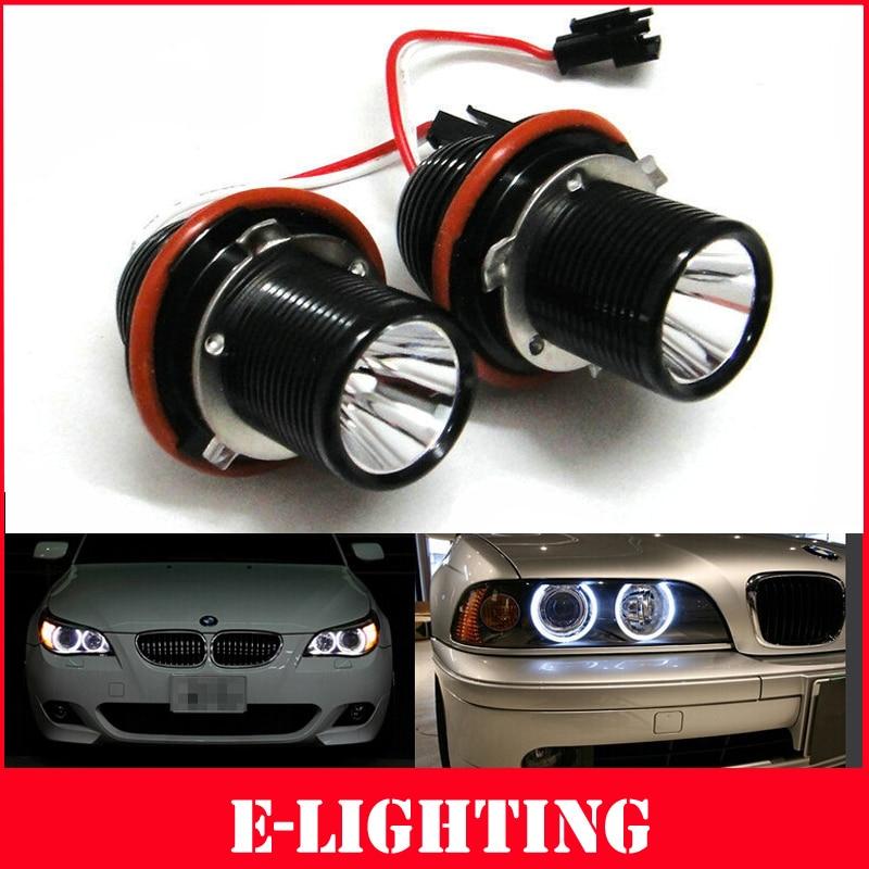 Xenon White BMW LED Angel Eyes Marker Upgrade Light Bulbs 25W E39 E60 E61 E65 X5