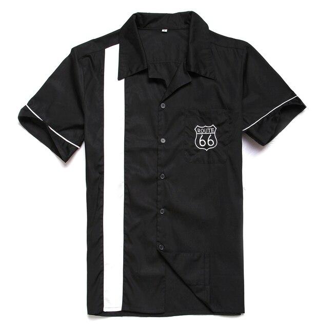 d993dc37661 Men s Shirt Vintage Rock 40 s Western Style Clothes Cowboy Short Sleeves  Black White US Pattern Hip Hop Party Club Shirts Collar