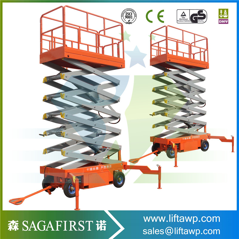 Outdoor And Indoor Used Lifting Equipment Hydraulic Scissor Lift With 500~2000kg Load Capacity