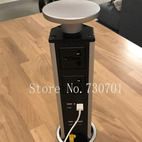 2 Universal Power 4 Charge USB With Led Light 1 Dual Network Silver Black Table Socket