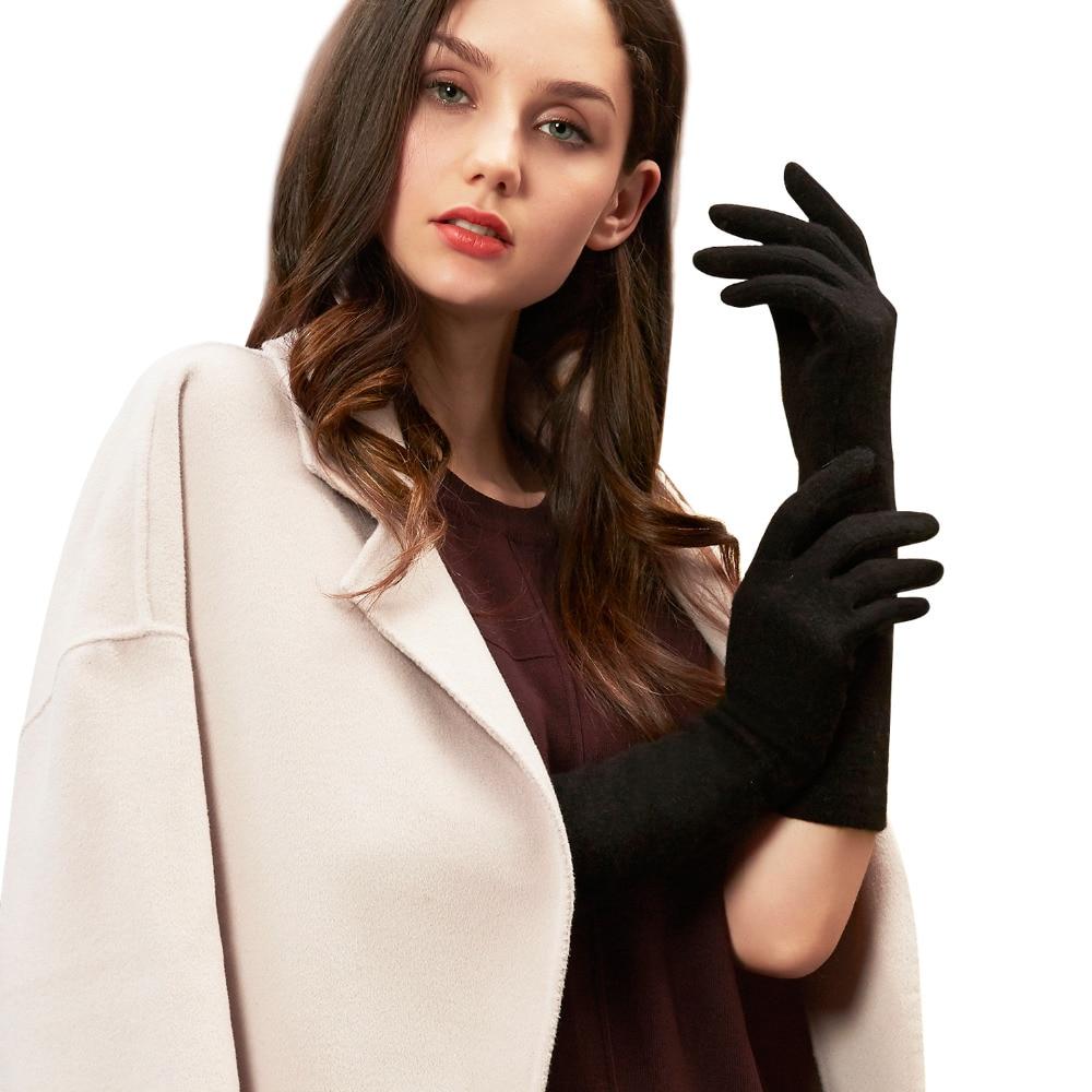 GSG Womens sarung tangan bulu panjang musim sejuk skrin sentuh sarung - Aksesori pakaian - Foto 2