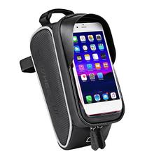 Wheel Up Touch Screen Front Top Tube Bike Bags Rain Resistant Mountain Road Cycling 6.0 Inch Cells Phone Cases Ho