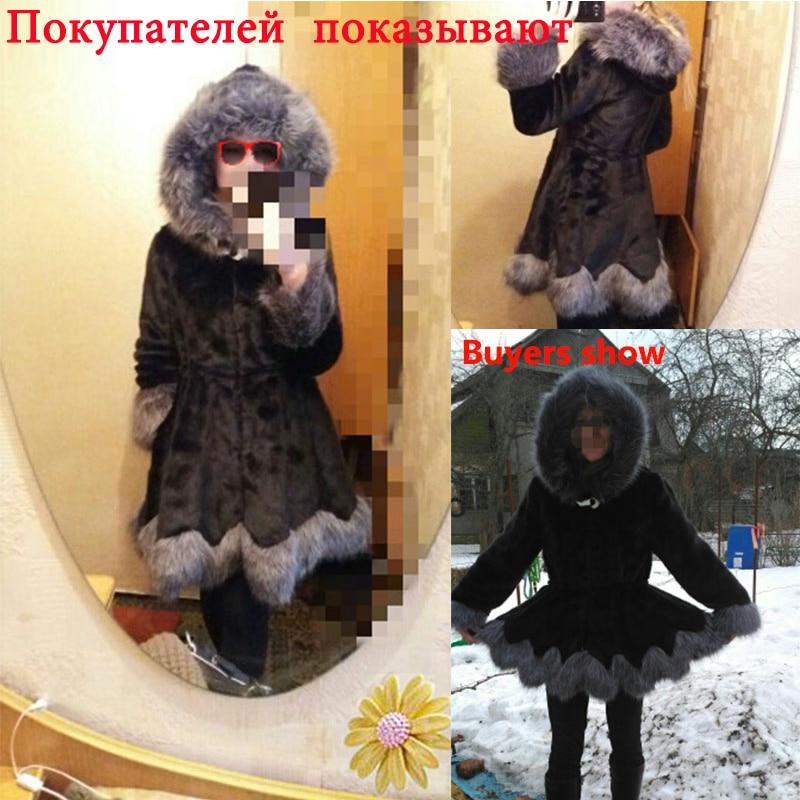 Krzneni kaput od visokog imitacije, srebrni krzneni ovratnik, - Ženska odjeća - Foto 6