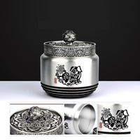 Pure Tin Urn,Twelve Chinese Zodiac Casket,Pet Dog/Cat Casket, Memorial Ashes Cremation Holder Urn, Pet Keepsake