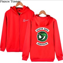 Frdun Tommy Riverdale Hoodies Zipper Sweatshirt Oversize New American Style Casual Hoodies Pullovers Zipper Clothes Plus Size(China)