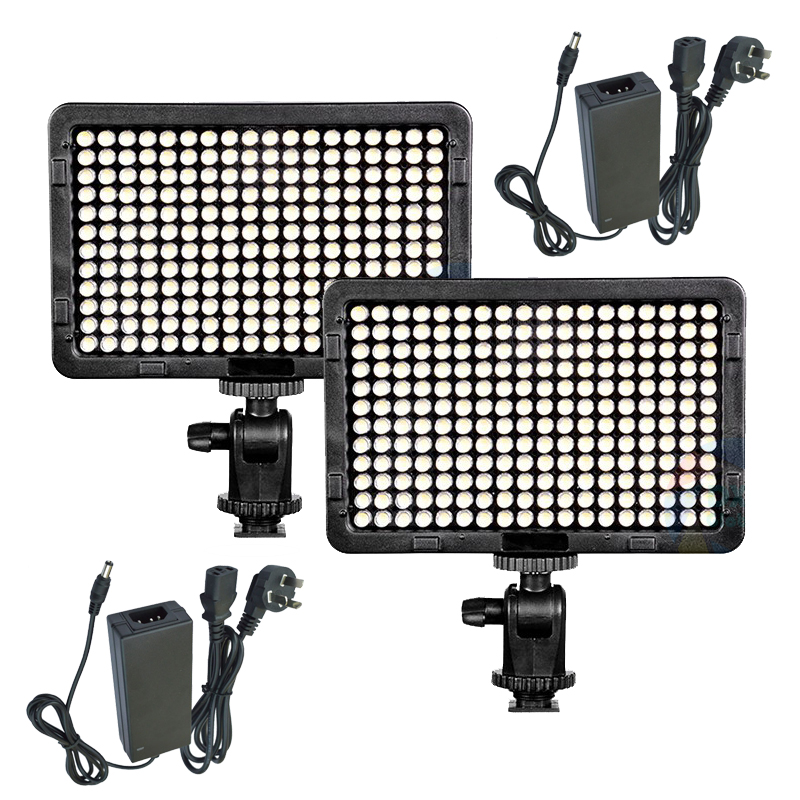 цена на 2PCS SETTO LED Video/Photo Light Lamp 5600K/3200K Dimmable with Charger for Canon Nikon Pentax DSLR Camera Video Camcorder