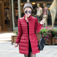 Women winter down jacket Nice new vogue medium-long duck down plus measurement XXXL parkas feminine slim girls jackets and coats S2652