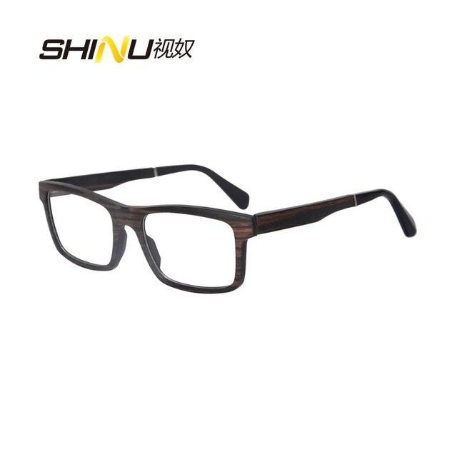2aebf11ff8 Luxury Women Men Wood Eyeglasses Square Optical Frame Prescription Eyewear  Frames Nerd Glasses SH73009