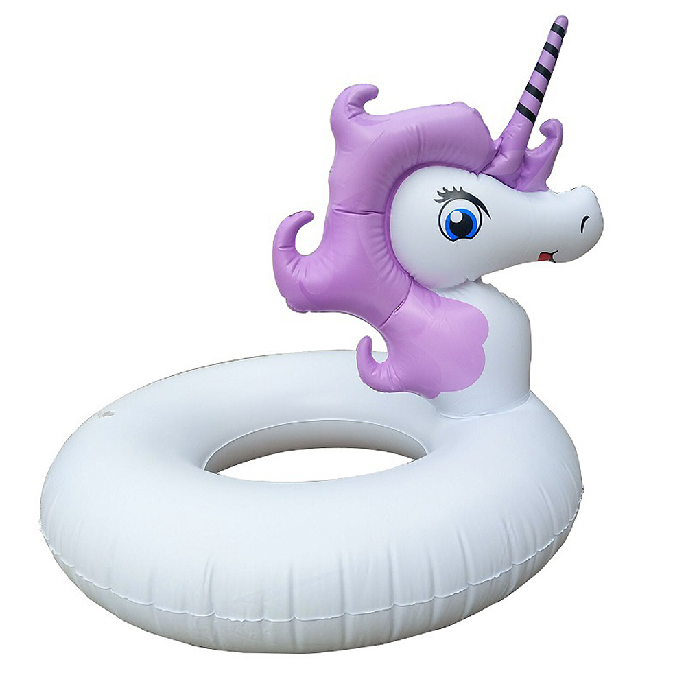 Kids Purple Swim Ring Inflatable Dragon Horse Pool Summer Seat Float Pool Cartoon Water Pool Toys Party Swimming Circle For Kids