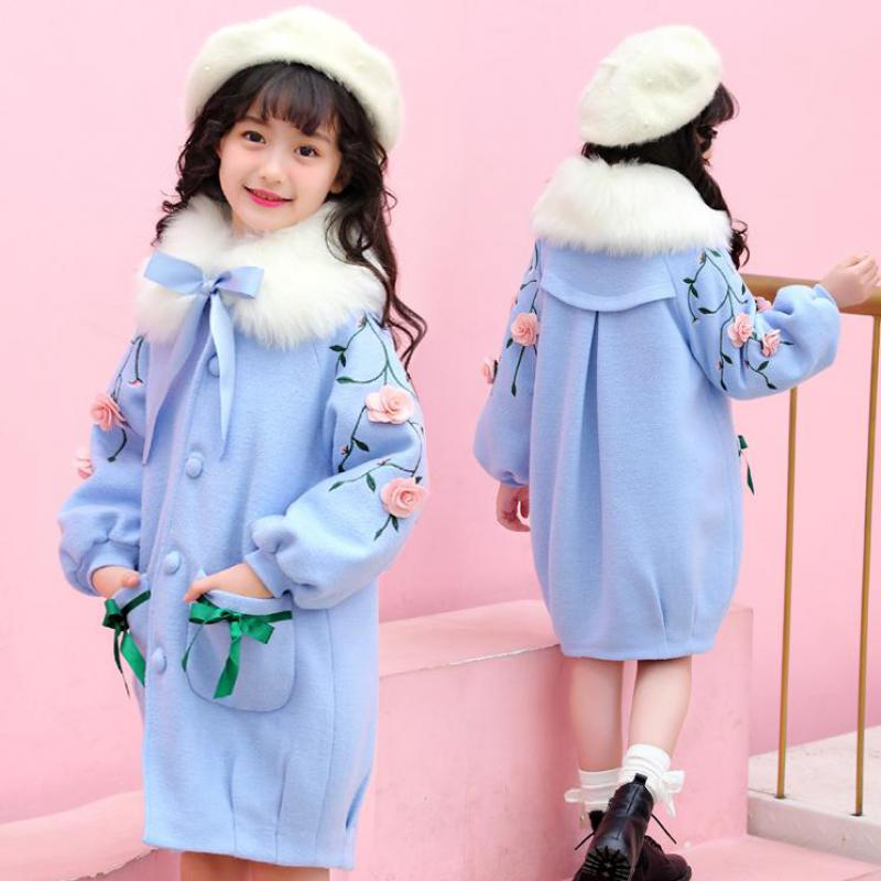 Toddler Girls Wool Blend Coat 2018 Winter Fashion Girls Clothing Outerwear Casual Jackets For Girls Christmas Clothes 10 12 Year недорго, оригинальная цена